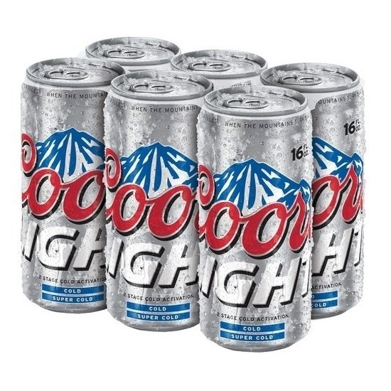 Coors Light Cans 16oz Beercastleny
