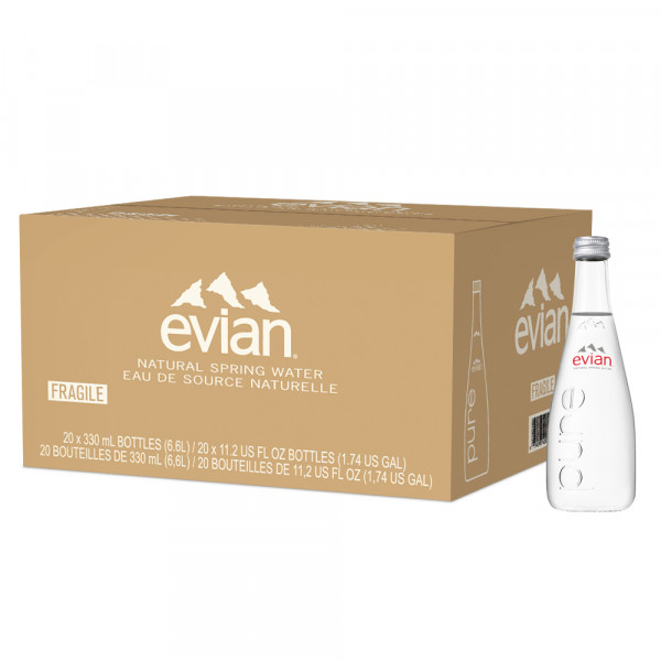 Evian, Bottles, 11 fl oz, 24 pack