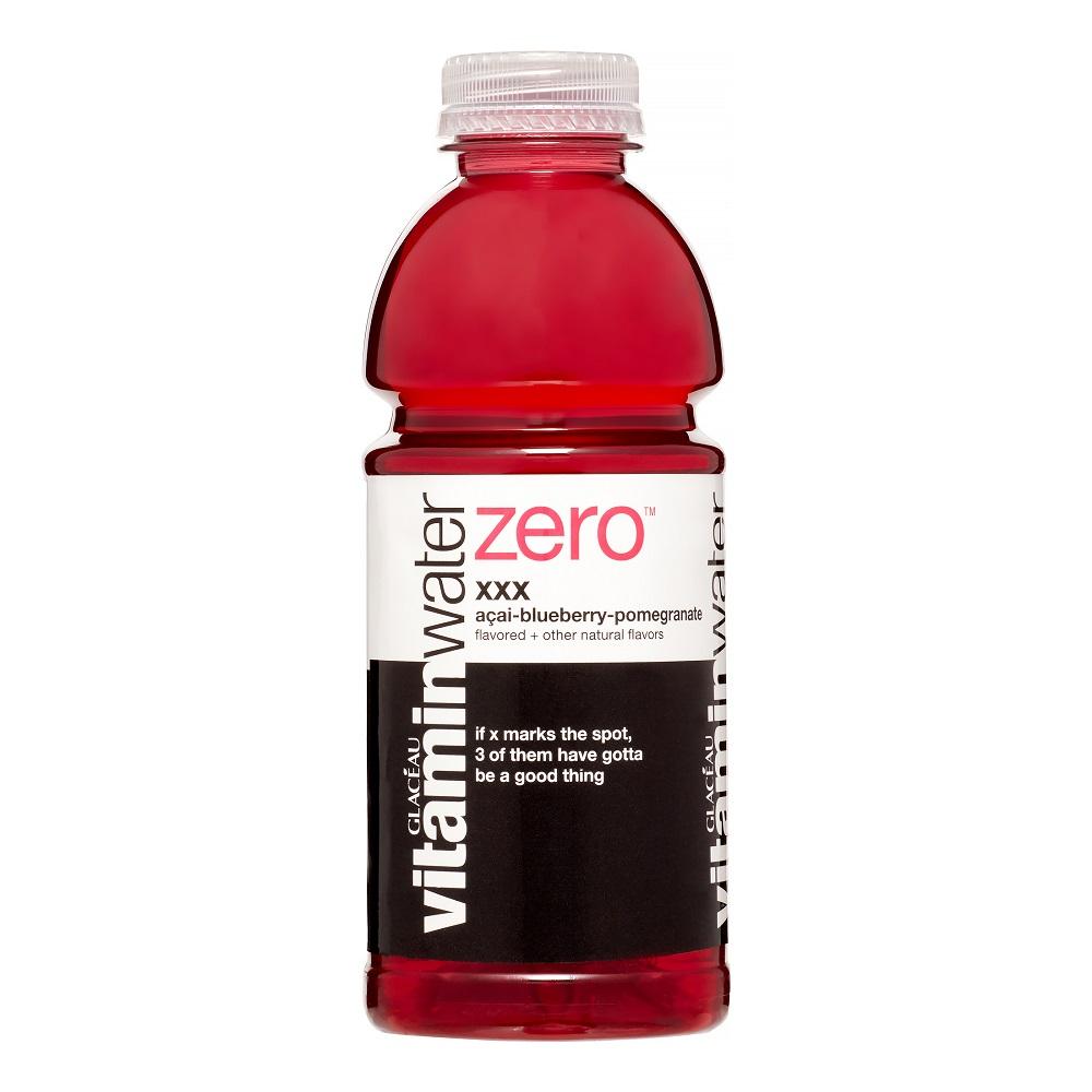 vitaminwater zero xxx, electrolyte enhanced water w