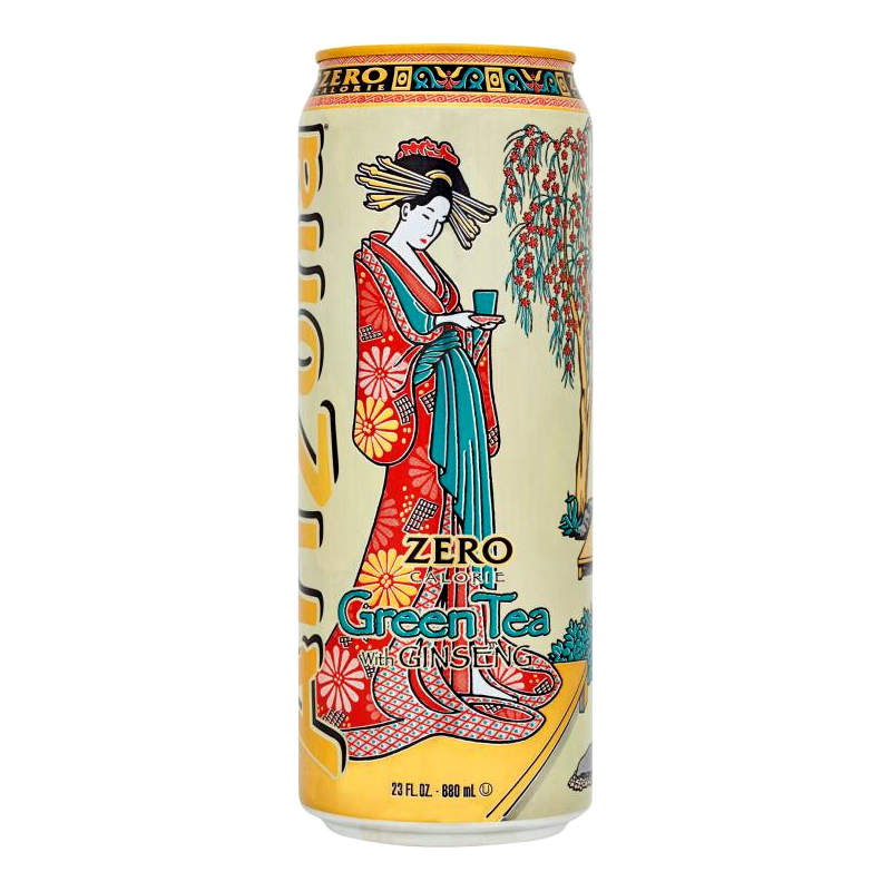 Arizona Green Zero Iced Tea With Ginseng And Honey, Can