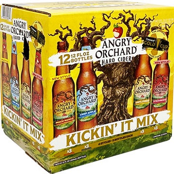 Angry Orchard Hard Cider Kickin' It 12oz 12bt