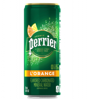 Perrier L'Orange Flavored Mineral Water